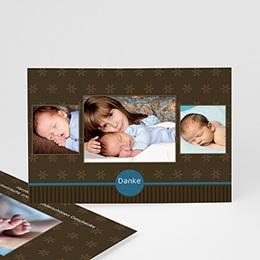 Dankeskarten Geburt Jungen - Babykarte Bruno - 1