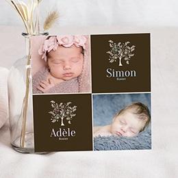 Einladungskarten Taufe Jungen  - Adoption blau - 1