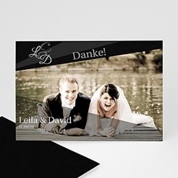 Danksagungskarten Hochzeit  - Einladungskarte Geburtstag - 1