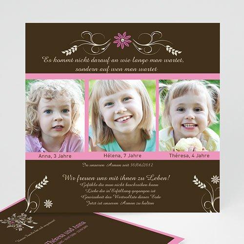 Adoptionskarten für Jungen - Adoptionskarte braun Baum 1 1112