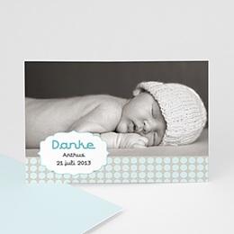 Dankeskarten Geburt Jungen - Babykarte Oskar - 1