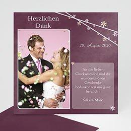 Danksagungskarten Hochzeit  - Gebrutstagseinladung - 1