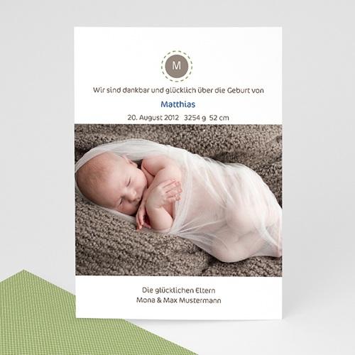 Babykarten für Jungen - Geburtskarte Theo 1164