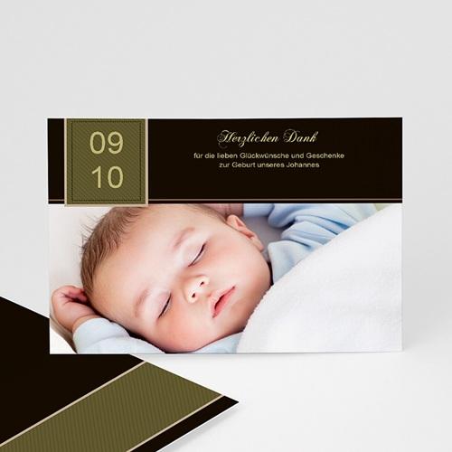 Dankeskarten Geburt Jungen - Dankeskarte Max 1208