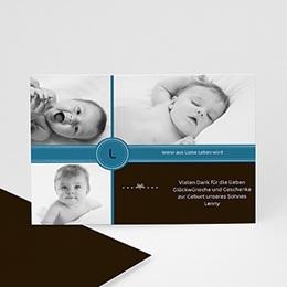 Dankeskarten Geburt Jungen - Babykarte Finn - 1