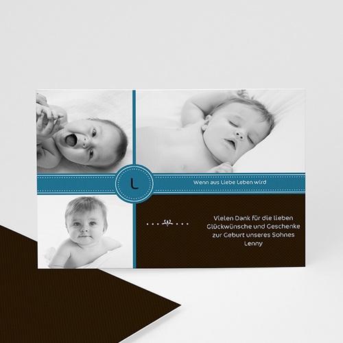 Dankeskarten Geburt Jungen - Alexis 1224