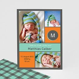 Dankeskarten Geburt Jungen - Babykarte Paul - 1