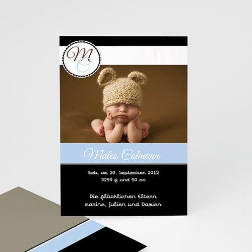 Geburtskarten für Mädchen - Babykarte Finn 1252