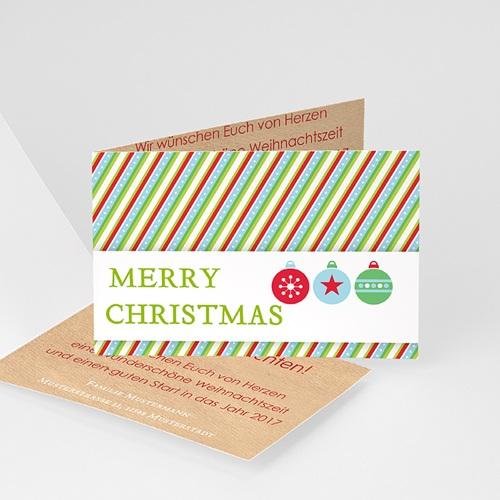 Weihnachtskarten - Weihnachtskarte Gestreift 12536