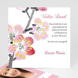 Dankeskarten Kommunion Mädchen - Kommunionseinladung Floral - 1