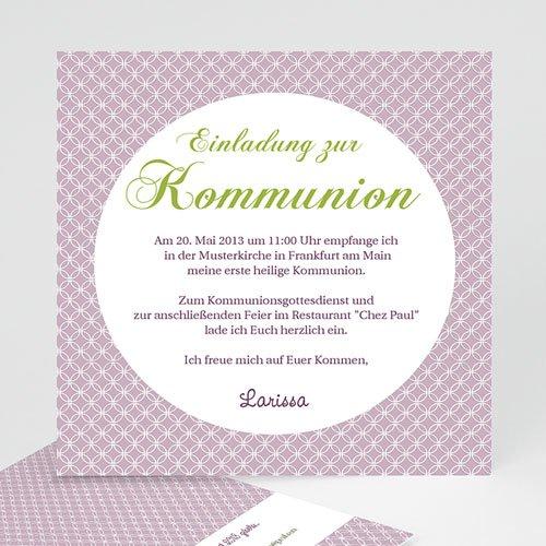 Einladungskarten Kommunion Mädchen - Ornament 12602