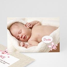 Dankeskarten Geburt Mädchen - Känguru Mädchen - 1