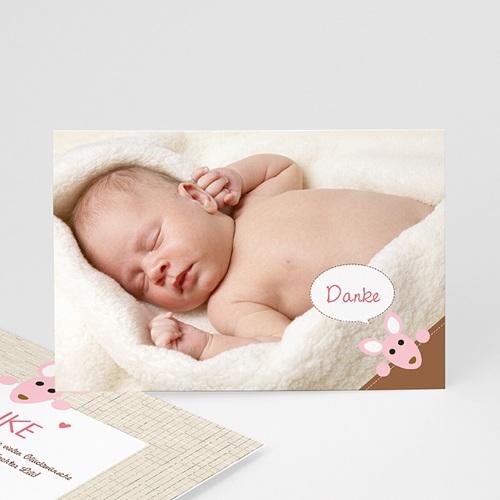 Dankeskarten Geburt Mädchen - Känguru Mädchen 12608