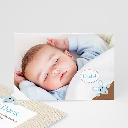 Dankeskarten Geburt Jungen - Geburtskarte Känguru 12614