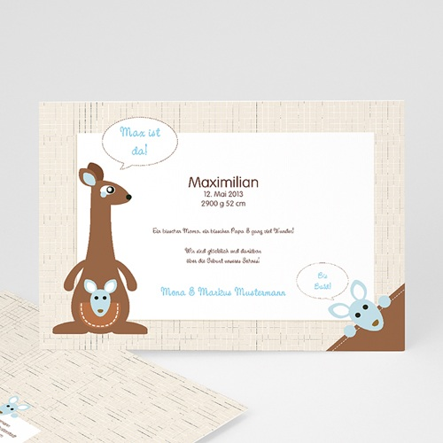 Babykarten für Jungen - Känguru Junge 12626