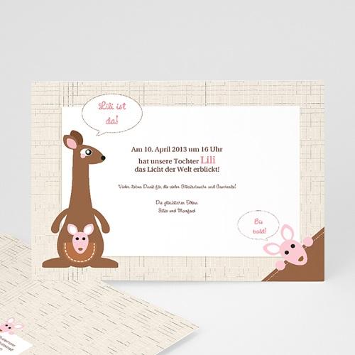 Geburtskarten für Mädchen - Känguru Mädchen 12638