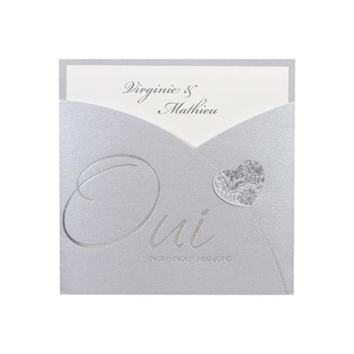 Hochzeitseinladungen traditionell - Perlmutt Glänzend  12645