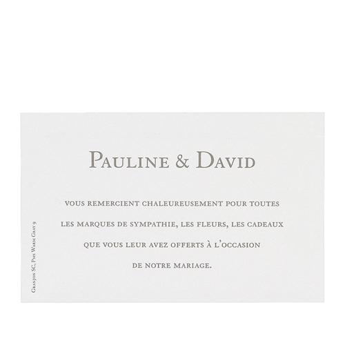 Klassische Dankeskarten Hochzeit  - Danksagungskarte Hochzeit 12685