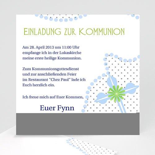Einladungskarten Kommunion Jungen - Feierlich verspielt 12719