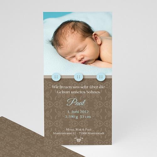 Babykarten für Jungen - Blaue Knöpfe 1296