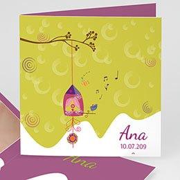 Geburtskarten für Mädchen - Vogelnest - 1