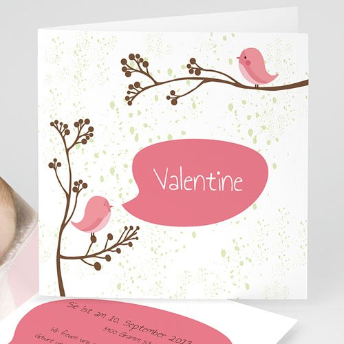 Geburtskarten für Mädchen - Pip Pip- Rosa 13033