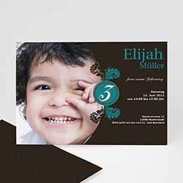 Geburtstagseinladungen Jungen - Einladungskarte Elias - 1