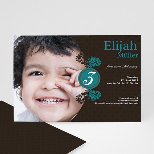 Geburtstagseinladungen Jungen - Einladungskarte Elias 1304