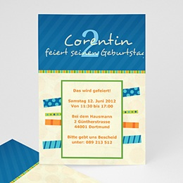 Geburtstagseinladungen Jungen - Corentin Geburstagseinladung - 1