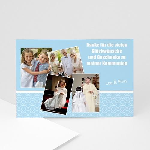Dankeskarten Kommunion Jungen - Erinnerung Erstkommunion 1344