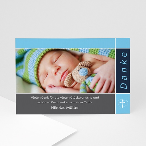 Dankeskarten Taufe Mädchen - Dankeskarte Taufe 4 1360