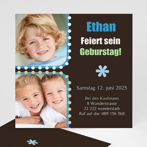 Geburtstagseinladungen Jungen - Geburstageinladung Ethan 1372