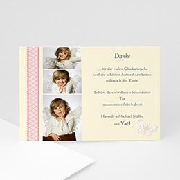 Dankeskarten Taufe Mädchen - Taufkarte - 1