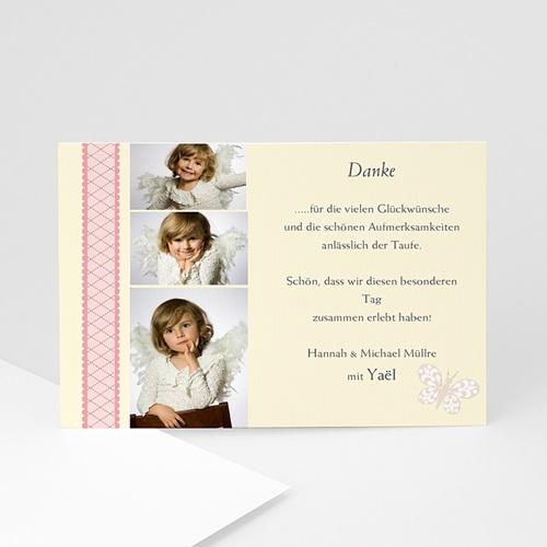 Dankeskarten Taufe Mädchen - Dankeskarte Taufe 3 1380