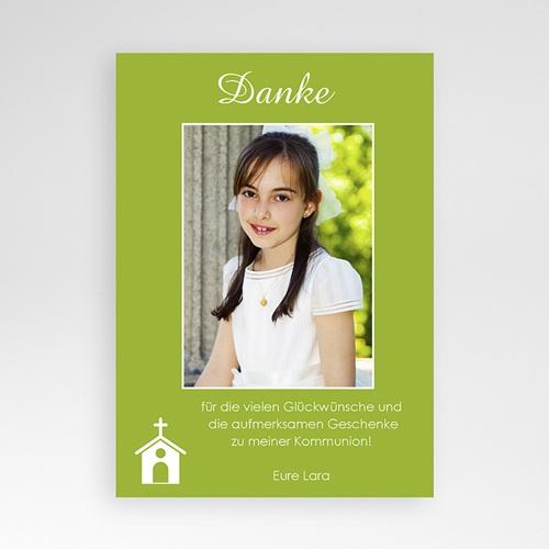 Dankeskarten Kommunion Mädchen - Dankeskarte Taube Lila 1400