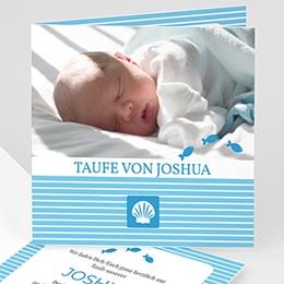 Einladungskarten Taufe Jungen  - Taufkarte Louis - 1