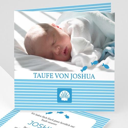 Einladungskarten Taufe Jungen  - Taufkarte Louis 14152