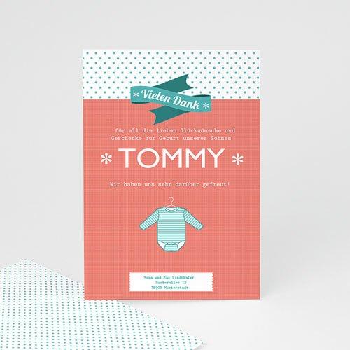 Dankeskarten Geburt Jungen - Tommy 14201