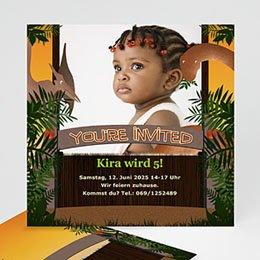 Geburtstagseinladungen Jungen - Dschungel - 1