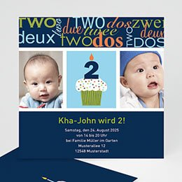 Geburtstagseinladungen Jungen - Mein 2. Geburtstag - 1