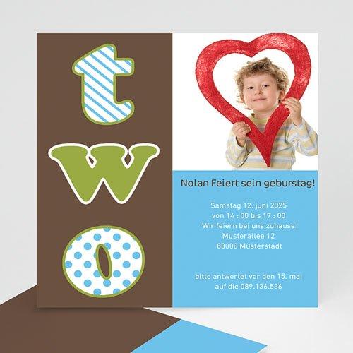 Einladungskarten Kindergeburtstag Geburstagseinladung two - 03307-KR0 ...
