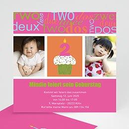 Geburtstagseinladungen Mädchen - Kindergeburtstagseinladung kuchen - 1