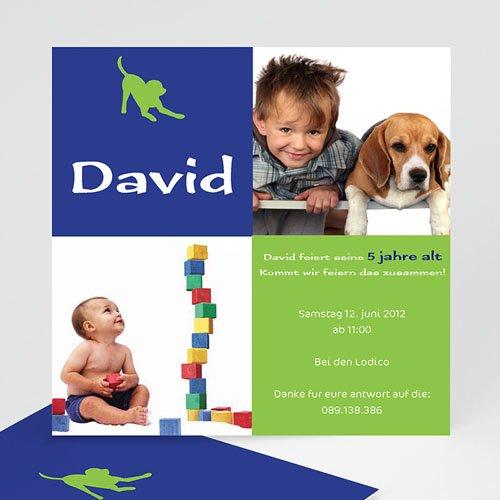 Geburtstagseinladungen Jungen - Kindergeburstag Hund 1456