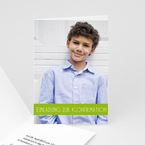 Einladungskarten Konfirmation - Fotokarte - mit Farbvarianten 14600