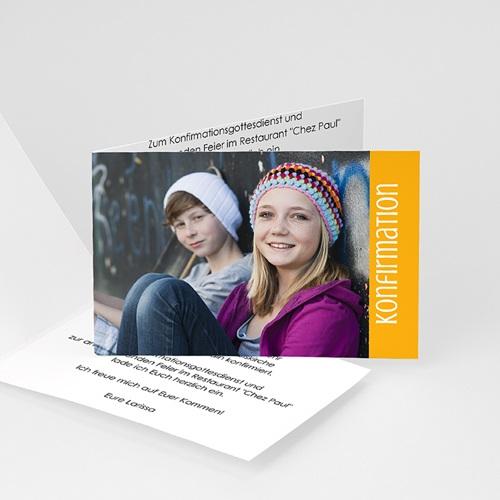 Einladungskarten Konfirmation - Schlicht - mit Farbvarianten 14642
