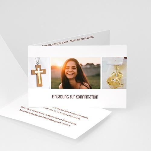 Einladungskarten Konfirmation - Fotoreihe - mit Farbvarianten 14660