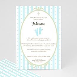 Einladungskarten Taufe Jungen  - Taufe danke - 1