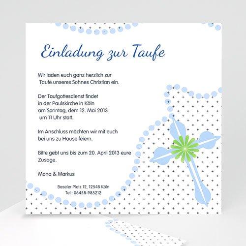 Einladungskarten Taufe Jungen  - Rosaire Bleu 14804