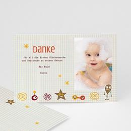 Dankeskarten Geburt Jungen -  - 1