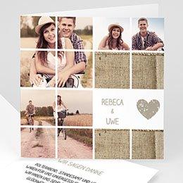 Hochzeitseinladungen modern - Hochzeitskarte Diashow - 1